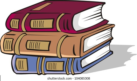 Set of books of various color