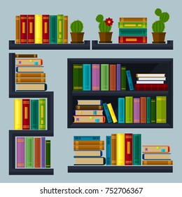 """A set of """"bookshelves and cabinets"""" elements"""