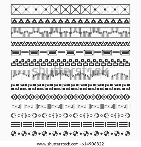 Set Borders Brushes Frames Scrapbook Decorations Stock Vector Best Decorative Designs For Borders