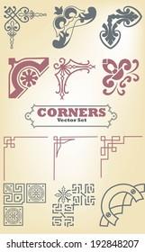 Set of borders, decorative elements for design