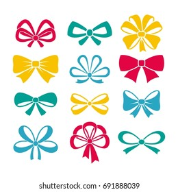 Set of bows.