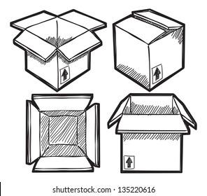 Set of box doodle