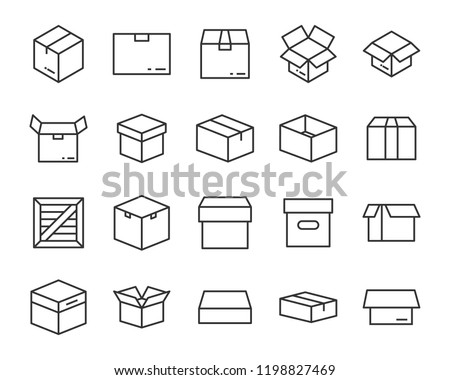 set of box icon