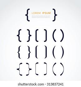 set of brackets