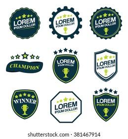 Set of Brands. Blazon vector logotype template.