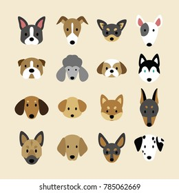 Set of breeds of dog