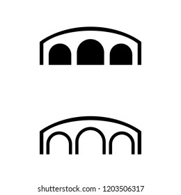 a set of bridge icons