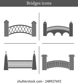 Set of bridge icons for your design