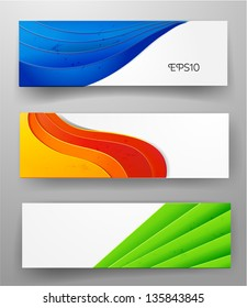 Set of bright banners. Vector illustration
