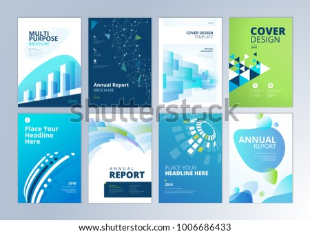 set brochure annual report flyer design stock vector royalty free