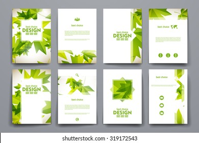 set of brochure poster templates in autumn style beautiful design and layout