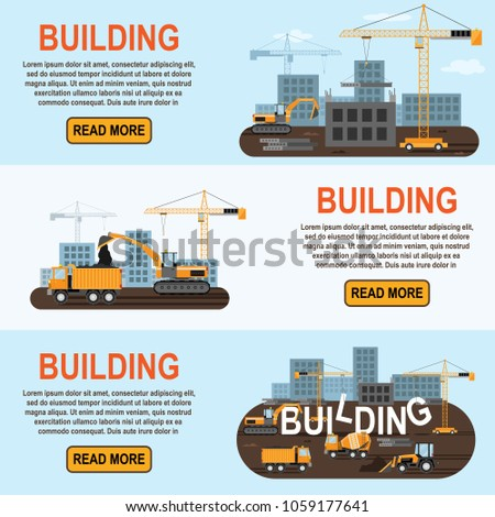 Construction Equipment Banners Business Advertising Banners