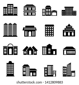 Set of Building Icon design vector, Real Estate Logo Symbol template