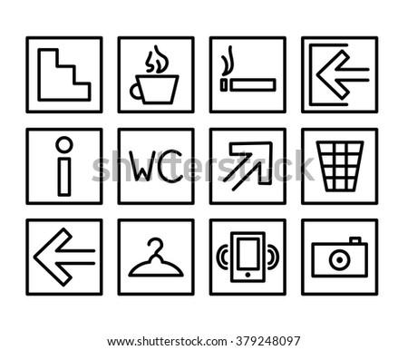 Set Building Navigation Icon Frames Vector Stock Vector (Royalty ...