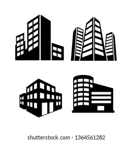 Set of Building and real estate city logo