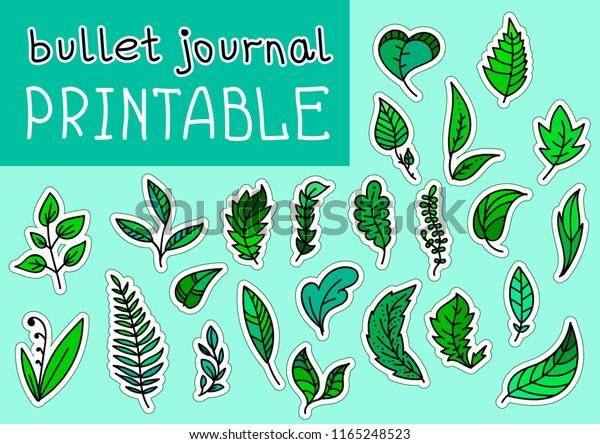 image regarding Autumn Leaves Printable named Preset Bulet Magazine Autumn Leaves Printable Inventory Vector