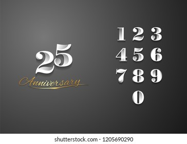set and bundle anniversary logo vector illustration, can be use as logo for birthday, company anniversary flyer and brochure