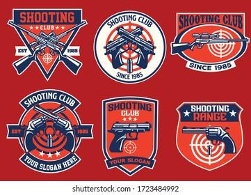 set bundle of shooting club badge collection
