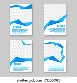 business abstract advertising booklet bent blue stock vector