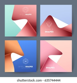 Set of business brochures. Vector abstract backgrounds.