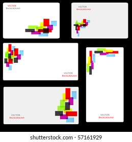 set of business card with abstract colors. vector illustration