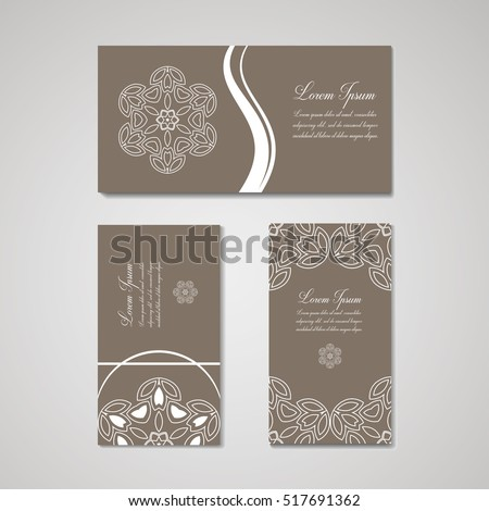 Set business card floral logos template stock vector royalty free set of business card and floral logos template for beauty salon spa center boutique wajeb Gallery