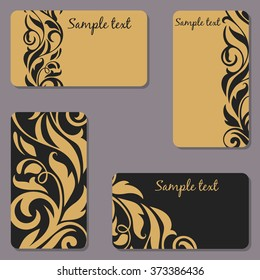 Set of business Cards. Beauty designs. Vector illustration