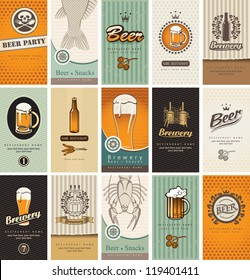 set of business cards on the topic of beer