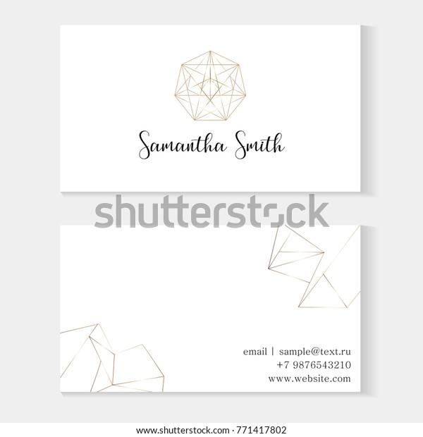 Vorlage Für Visitenkarten Mit Einem Geometrischen Stock