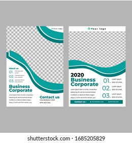 Set of business corporate flyer templates