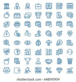 Set of business and finance icons. Vector illustration