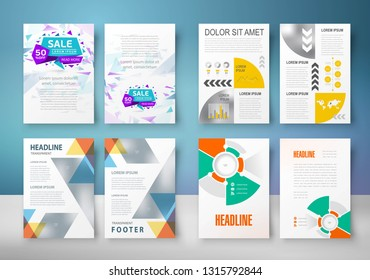 Set Business Flyer design template abstract