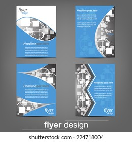 Set of business flyer template, corporate banner, cover design or brochure/design with place for your content or creative editing.