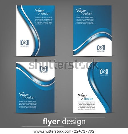 Set business flyer template corporate banner stock vector royalty set of business flyer template corporate banner cover design or brochuredesign with wajeb Choice Image