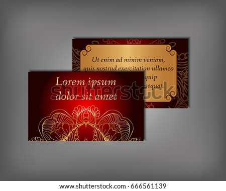 Set Business Invitation Save Date Card Stock Vector Royalty