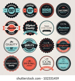 Set of business labels and and badges