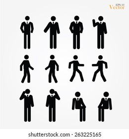 set of business man icon ,vector illustration,business man icon vector