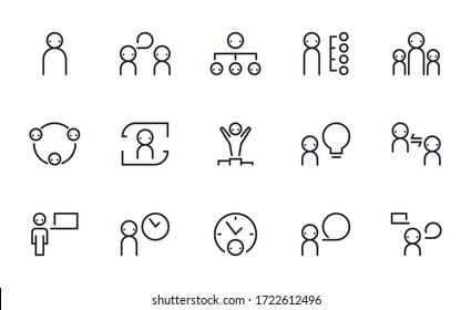 Set of Business people vector icon illustration