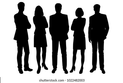 man and woman silhouette images stock photos vectors shutterstock https www shutterstock com image vector set business people vector silhouettes group 1022482003