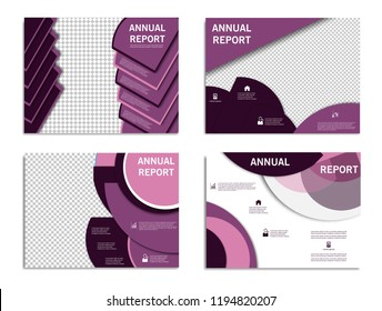 Set of Business presentation slides templates from infographic elements. Can be used for presentation, flyer , brochure, corporate report, marketing, advertising, report, banner, booklet.