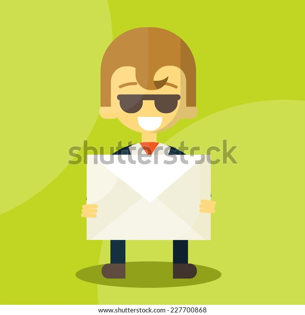Set of businessman holding letter characters poses , eps10 vector illustration format