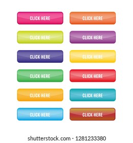 set buttons colorful for web design.