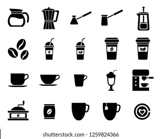 set of cafe icon, modern concept, editable object, simple style