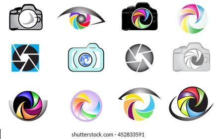 Set of camera logo