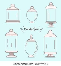 Set of candy jars