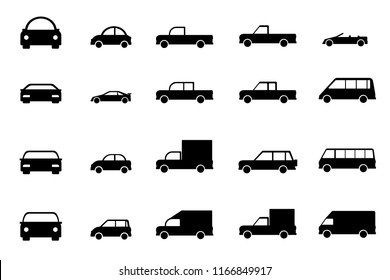 Set car icon. Transport collections. Vector illustration.