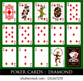 Set of Cards.All the Diamond.