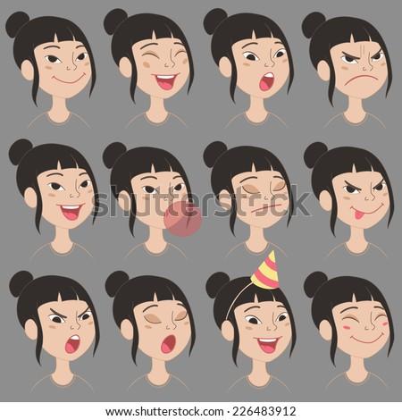 Cute asian cartoons