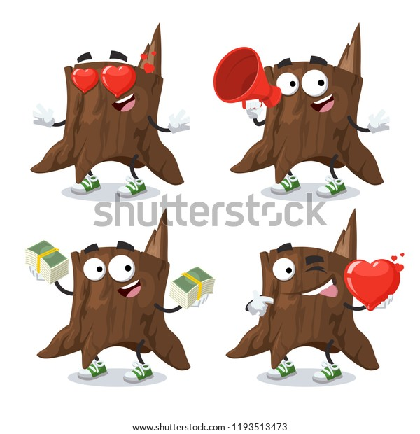 Set Cartoon Tree Stump Character Mascot Stock Vector Royalty Free 1193513473 Jump to navigation jump to search. shutterstock