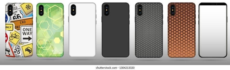 Set case for Iphone vector illustration.